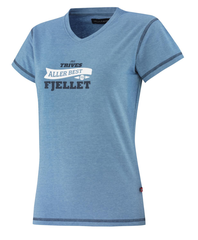Jotunheim Varde T shirt m print dame Best Fuchsia Purple