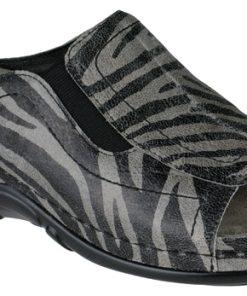 Berkemann Isabella 01105-635 anthracite gray/zebra
