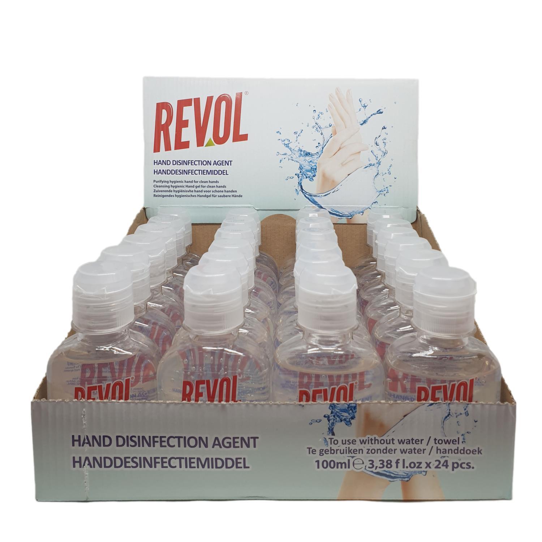 Revol Antibakteriell Gel 100ml (1 Kolli, 144 stk.)