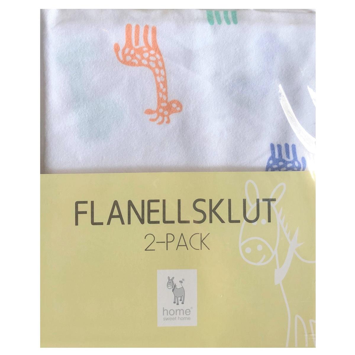 Flanellsklut GIRAFFE