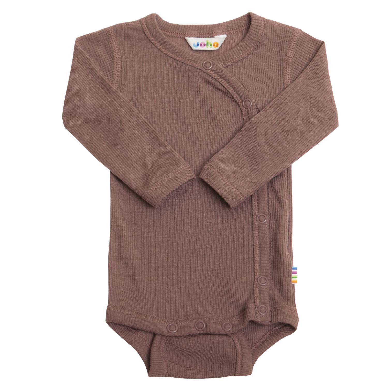 Joha Prematur Baby Wool/Silke Body m/omslag Gammelrosa