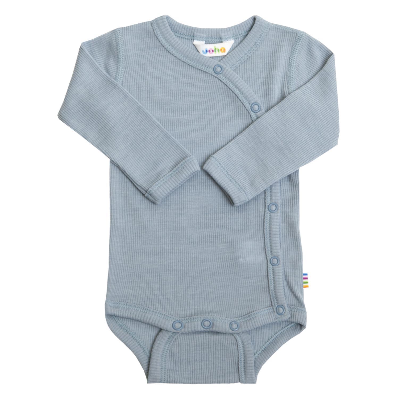 Joha Prematur Baby Wool/Silke Body m/omslag Blå