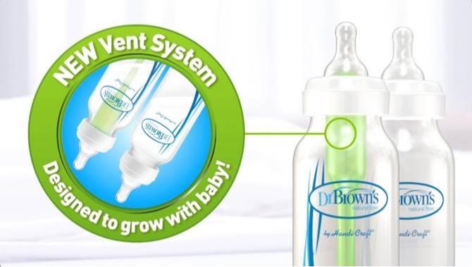 Dr Browns Option wideneck tåteflaske 270ml, 2PK