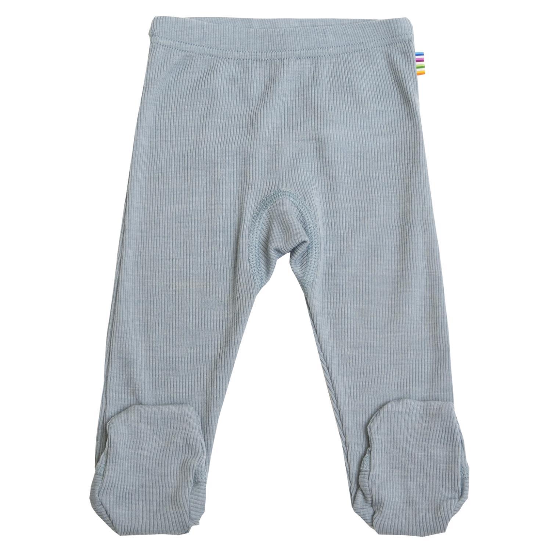 Joha Baby Wool/Silk Longs m/fot Blå