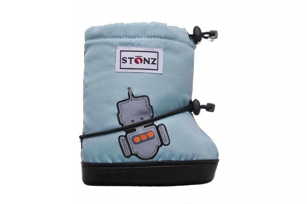 Stonz Booties Robot-Haze Blue M 6-18 mnd