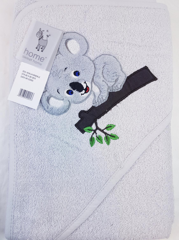 Hettehåndkle Koala Grå
