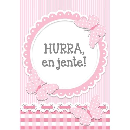 Nyfødt kort, Hurra en jente