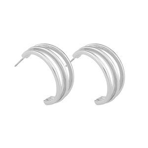 Mette wide oval ear plain s