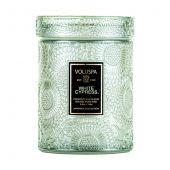 Mini Glass Jar White Cypress