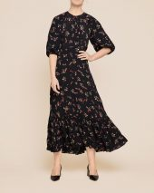 Flounce Midi Dress