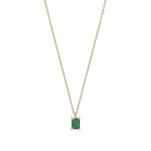 Satin small pendant neck 42 g/green