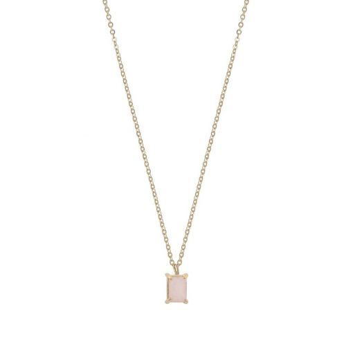 Satin small pendant neck 42 g/pink
