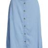 Vibista HW Wide Denim Skirt