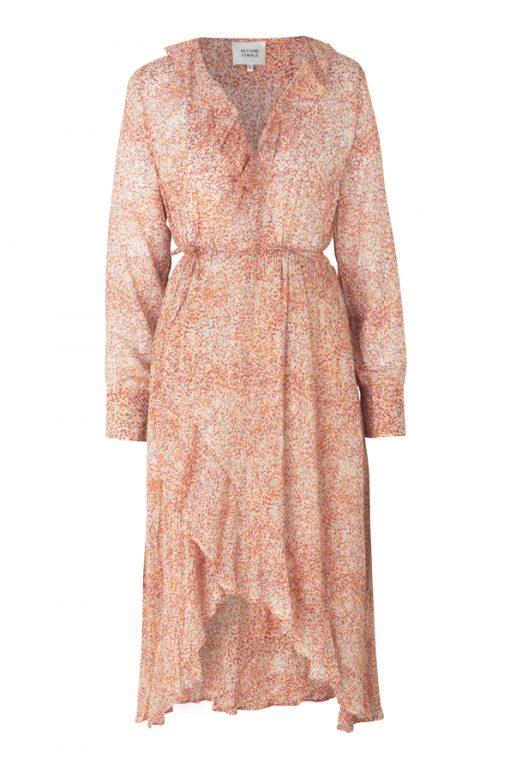 Floral LS Wrap Dress