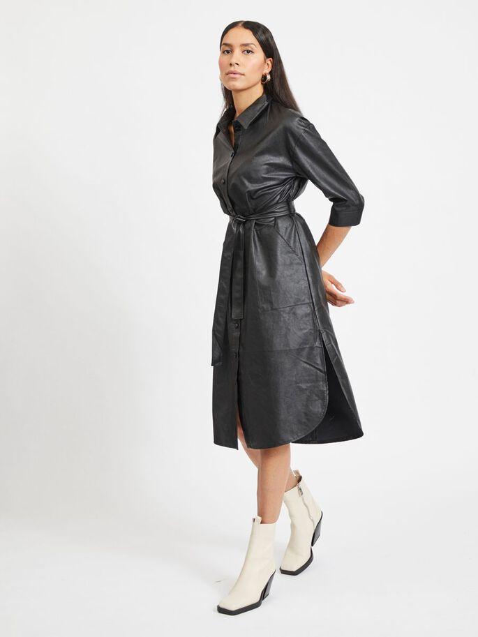 Viasenna 3/4 Sleeve Midi Coated Dress