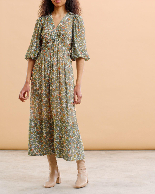 Georgette V-Neck Dress