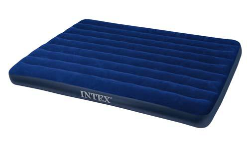 Intex  LUFTMADRASS VELUR QUEEN 203 x 152 CM BLÅ