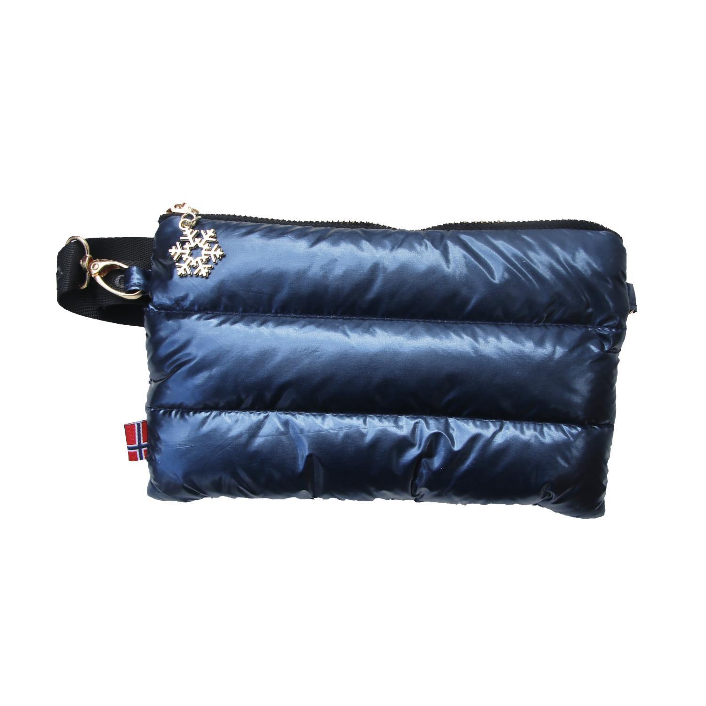 Thermopoc  clutch veske i dun Blå metallic 215x135mm