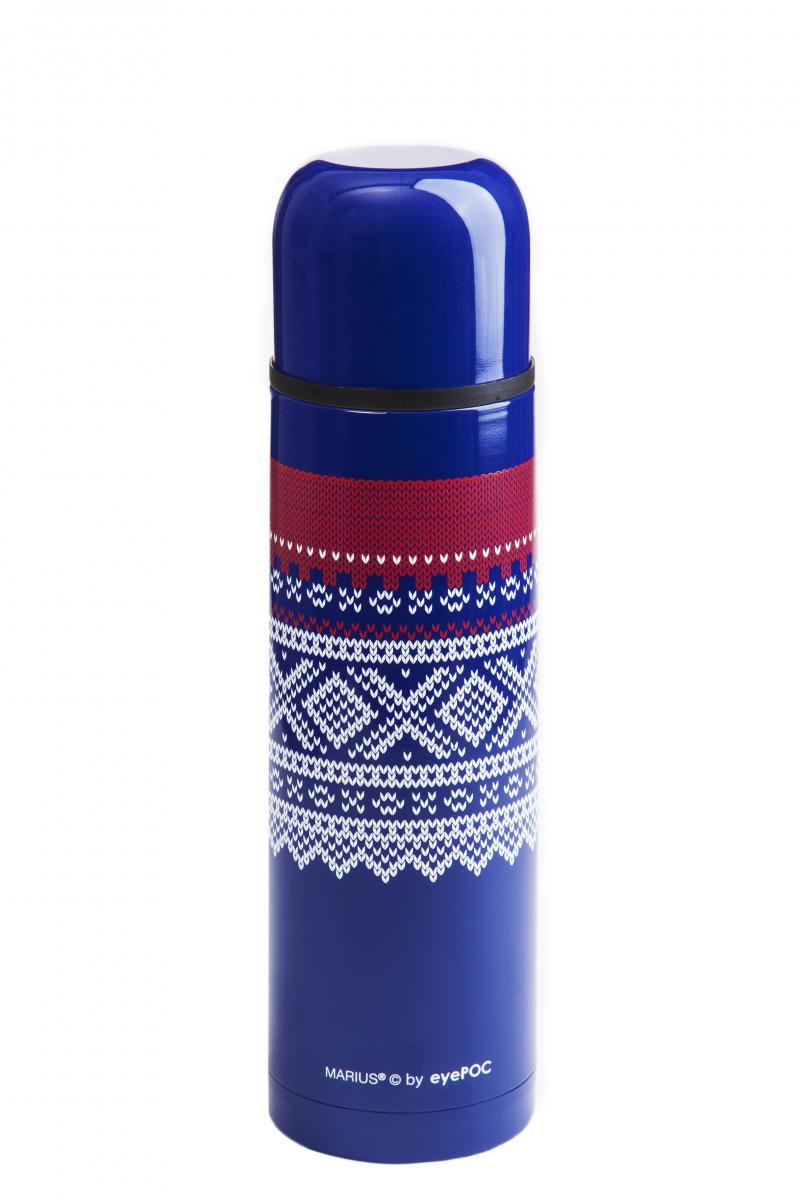 Eyepoc  Termos 1 liter, Mariusmønster-  Original blå