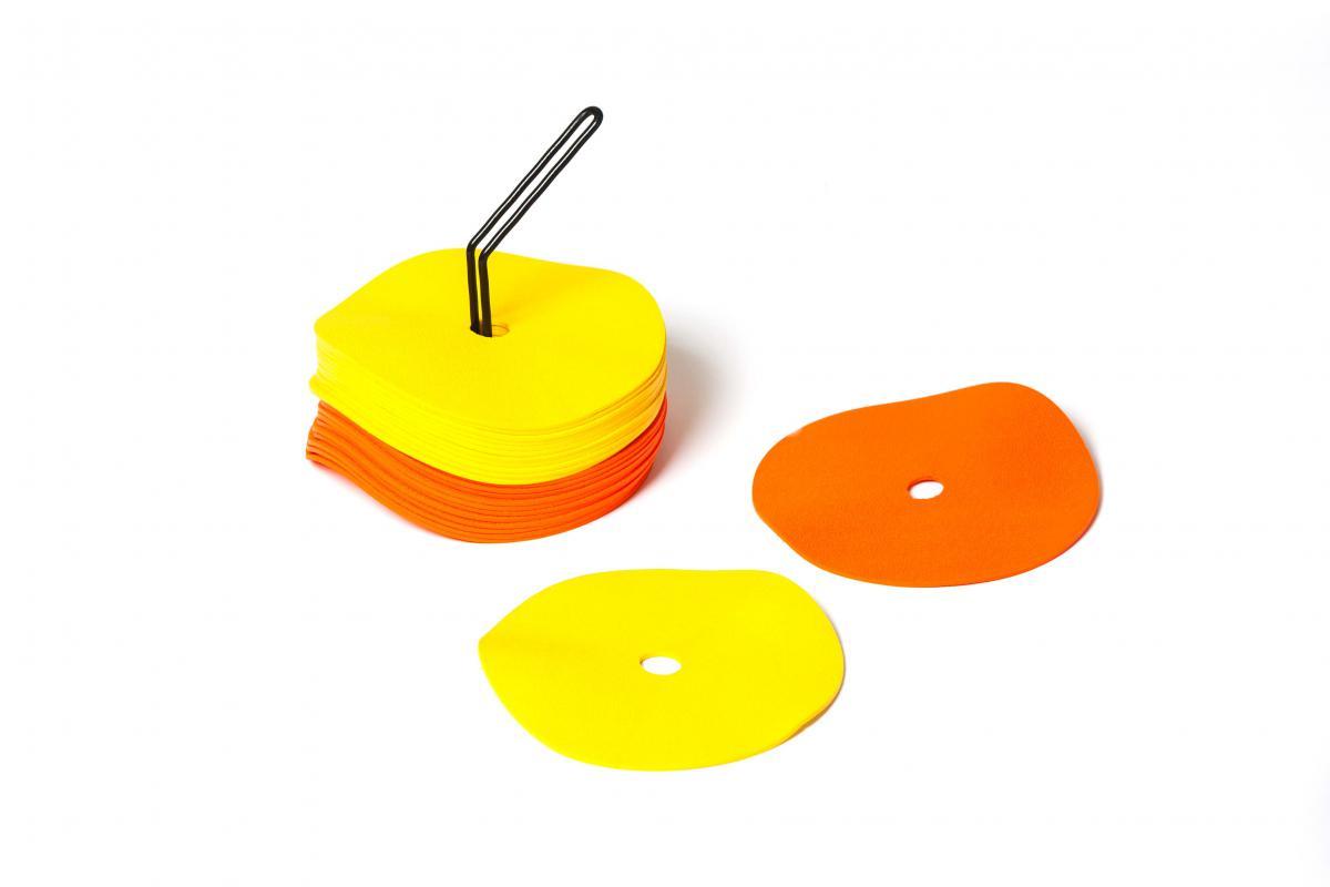 Sport Direkt  Flat markeringsmatte (24 stk, 2 farger)