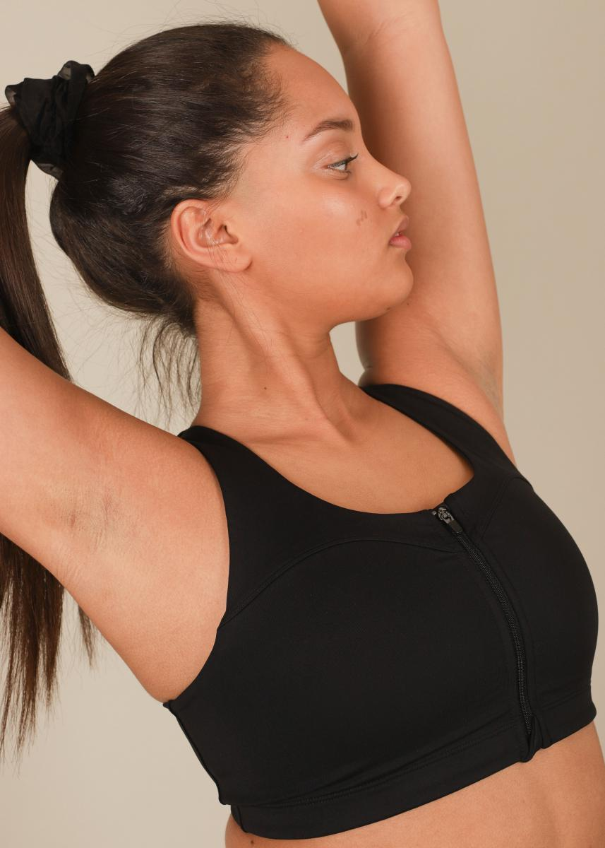 Stay In Place  Front Zip Sports Bra