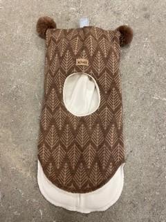 Kivat Hettelue, brun med mønster