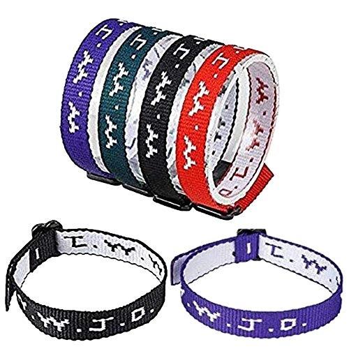 WWJD-armbånd, stoff, ass farger