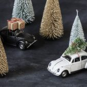 Decoration, X-mas Car, Black
