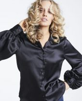 Kristin Satin Blouse