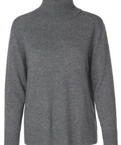 Pullover LS, Dark Grey Melange