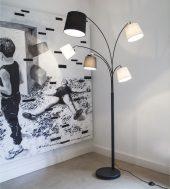 By Rydens Foggy Gulvlampe 5-låg H200cm Sandsvart