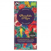 Chocolate & Love 70% Pomegranate 80g