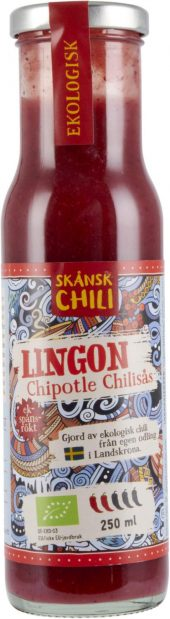 Chilisaus. Lingon Chipotle. 250 ml. Skånsk Chili