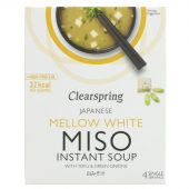 Clearspring Hvit Miso suppe m/tofu 4x10g