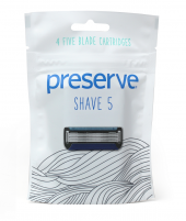 Preserve Shave 5 Replacement Blades | 4 Blades