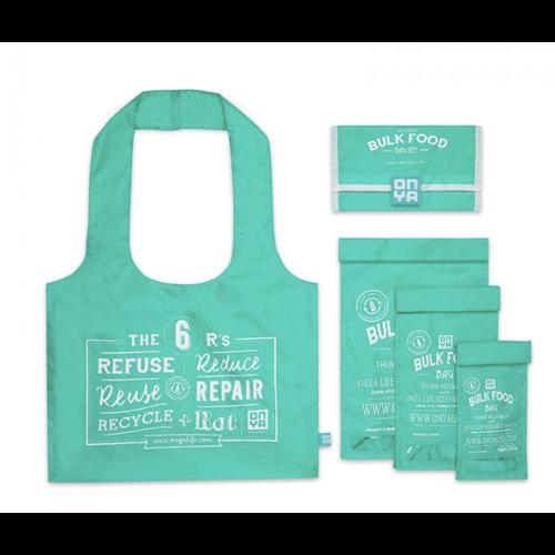 Onya Bulk Food Bags - Aqua Bulk Starter Set