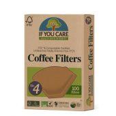 If You Care - Kaffefilter nr.4. 100 stk