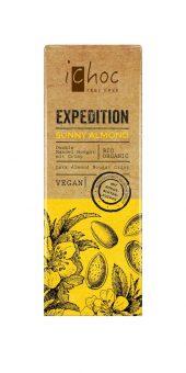 Mørk sjokolade, vegan, med mandelnougat, kokosblomstsukker, 50 g, økologisk, iChoc
