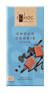 Ichoc Lys sjokolade m/kakaokjeks. vegan. [øko] 80 g