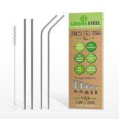 Greens Steel Sugerør Lange