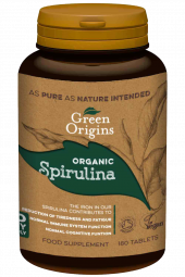 Green Origins Spirulina 180 tabletter øko vegan