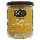 Cultured Food raw gulrot og fennikkel sauerkraut, øko, 400g