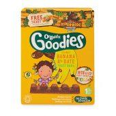 Organix Goodies banan- & daddelbarer, øko, 6 stk x17g