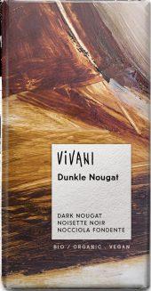 Mørk sjokolade Nougat, vegan, 100 g, økologisk, Vivani