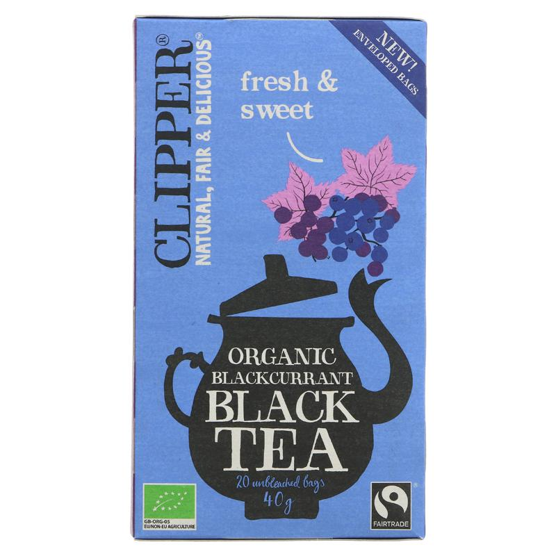 Clipper Blackcurrant Black Tea Organic  - 20 bags