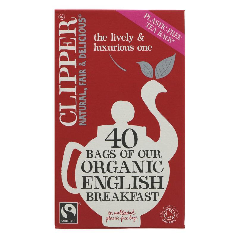 Clipper English Breakfast Organic - Plastic free tea bags - 40 bags