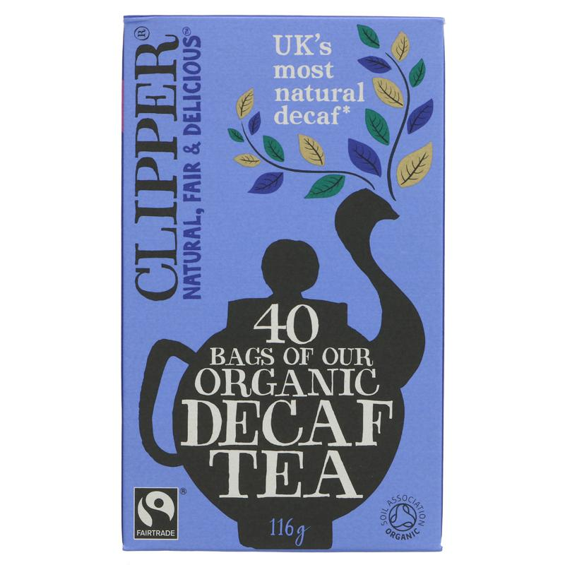 Clipper Decaf Tea Organic - Plastic free tea bags - 40 bags