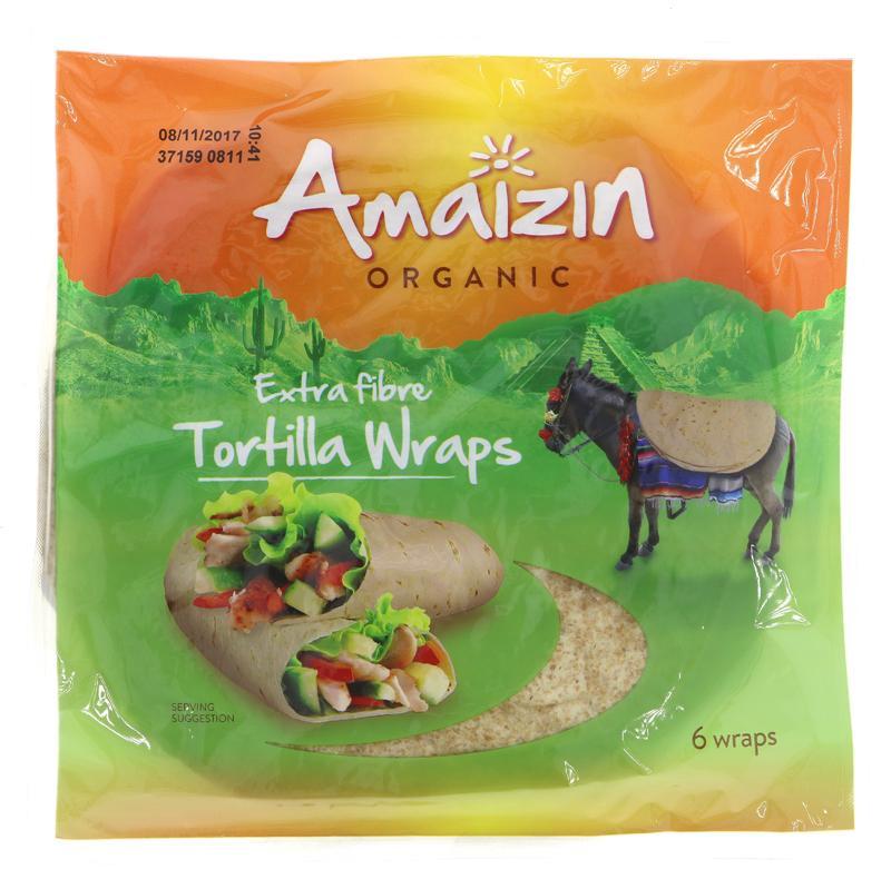 Amaizin tortilla wraps fullkorn 240g øko