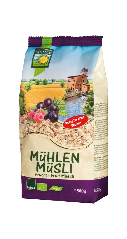 Musli frukt, 500 g, økologisk, Bohlsener Muehle