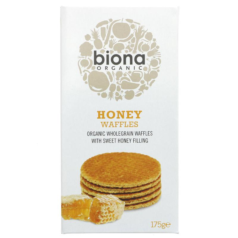 Biona Honey Waffles - 175g